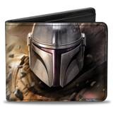 Mandalorian Bounty Hunter Bi-Fold Wallet Star Wars Licensed