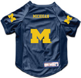 Michigan Wolverines Dog Deluxe Stretch Jersey Big Dog Size