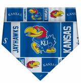 Kansas Jayhawks Dog Cat Bandana Premium Over Collar