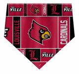 Louisville Cardinals Dog Cat Bandana Premium Over Collar