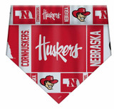 Nebraska Huskers Dog Cat Bandana Premium Over Collar