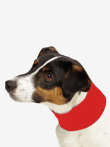 Cooling Insect Shield Dog Pet Neck Gaiter Scarf Bug Protection Red