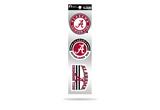 Alabama Crimson Tide 3pc Retro Spirit Decals Premium Throwback Stickers