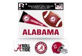 Alabama Crimson Tide Removable Wall Decor 6pc Set Premium Decals