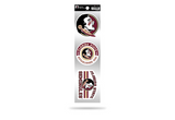 Florida State Seminoles 3pc Retro Spirit Decals Premium Throwback Stickers
