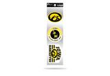 Iowa Hawkeyes 3pc Retro Spirit Decals Premium Throwback Stickers