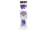 Kansas State Wildcats 3pc Retro Spirit Decals Premium Throwback Stickers