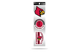 Louisville Cardinals 3pc Retro Spirit Decals Premium Throwback Stickers