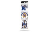 Memphis Tigers 3pc Retro Spirit Decals Premium Throwback Stickers