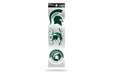 Michigan State Spartans 3pc Retro Spirit Decals Premium Throwback Stickers