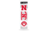 Nebraska Huskers 3pc Retro Spirit Decals Premium Throwback Stickers