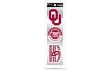 Oklahoma Sooners 3pc Retro Spirit Decals Premium Throwback Stickers