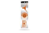 Texas Longhorns 3pc Retro Spirit Decals Premium Throwback Stickers