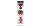 Texas Tech Red Raiders 3pc Retro Spirit Decals Premium Throwback Stickers
