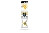 West Virginia Mountaineers 3pc Retro Spirit Decals Premium Throwback Stickers