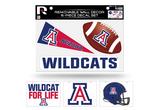 Arizona Wildcats Removable Wall Decor 6pc Set Premium Decals