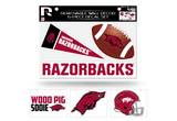 Arkansas Razorbacks Removable Wall Decor 6pc Set Premium Decals