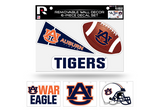 Auburn Tigers Removable Wall Decor 6pc Set Premium Decals