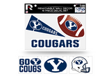 Brigham Young BYU Cougars Removable Wall Decor 6pc Set Premium Decals