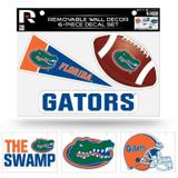 Florida Gators Removable Wall Decor 6pc Set Premium Decals