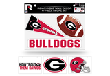Georgia Bulldogs Removable Wall Decor 6pc Set Premium Decals