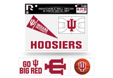 Indiana Hoosiers Removable Wall Decor 6pc Set Premium Decals