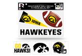 Iowa Hawkeyes Removable Wall Decor 6pc Set Premium Decals