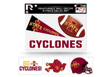 Iowa State Cyclones Removable Wall Decor 6pc Set Premium Decals