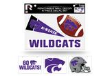 Kansas State Wildcats Removable Wall Decor 6pc Set Premium Decals