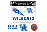 Kentucky Wildcats Removable Wall Decor 6pc Set Premium Decals