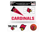 Louisville Cardinals Removable Wall Decor 6pc Set Premium Decals