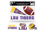 Louisiana State LSU Tigers Removable Wall Decor 6pc Set Premium Decals