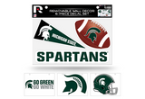 Michigan State Spartans Removable Wall Decor 6pc Set Premium Decals
