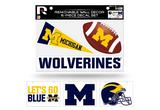 Michigan Wolverines Removable Wall Decor 6pc Set Premium Decals