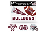 Mississippi State Bulldogs Removable Wall Decor 6pc Set Premium Decals