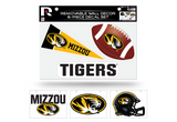 Missouri Tigers Removable Wall Decor 6pc Set Premium Decals