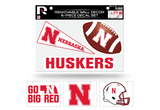 Nebraska Huskers Removable Wall Decor 6pc Set Premium Decals