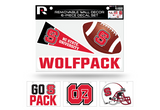 NC State Wolfpack Removable Wall Decor 6pc Set Premium Decals