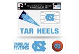 North Carolina Tar Heels Removable Wall Decor 6pc Set Premium Decals