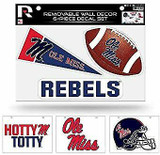 Mississippi Ole Miss Rebels Removable Wall Decor 6pc Set Premium Decals