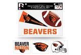 Oregon State Beavers Removable Wall Decor 6pc Set Premium Decals