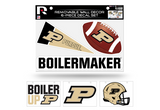 Purdue Boilermakers Removable Wall Decor 6pc Set Premium Decals
