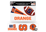 Syracuse Orange Removable Wall Decor 6pc Set Premium Decals