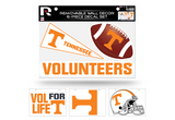 Tennessee Vols Volunteers Removable Wall Decor 6pc Set Premium Decals