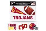 USC Trojans Removable Wall Decor 6pc Set Premium Decals