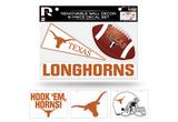 Texas Longhorns Removable Wall Decor 6pc Set Premium Decals