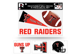 Texas Tech Red Raiders Removable Wall Decor 6pc Set Premium Decals