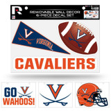 Virginia Cavaliers Removable Wall Decor 6pc Set Premium Decals