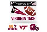 Virginia Tech Hokies Removable Wall Decor 6pc Set Premium Decals