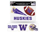 Washington Huskies Removable Wall Decor 6pc Set Premium Decals
